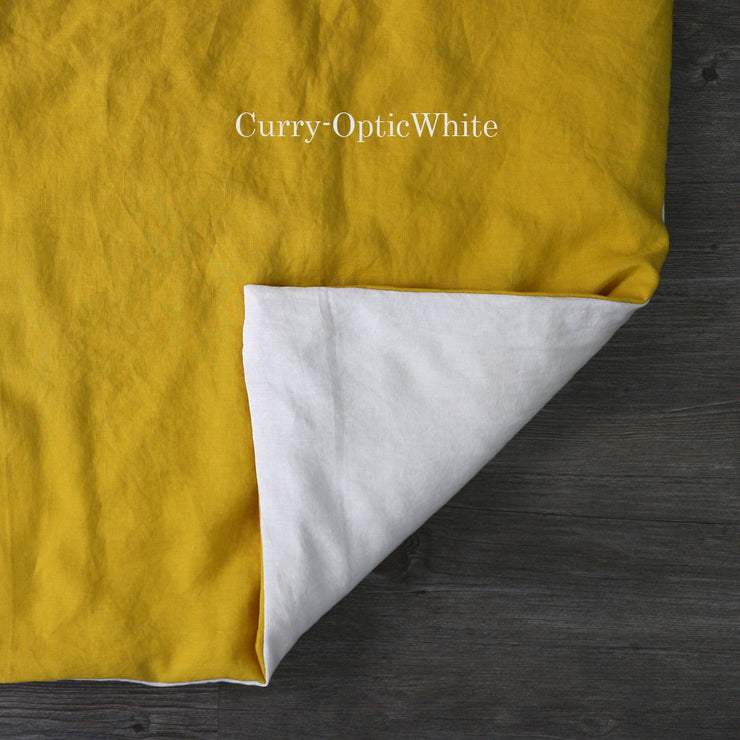 Two Tones Duvet Cover Curry-Optic White