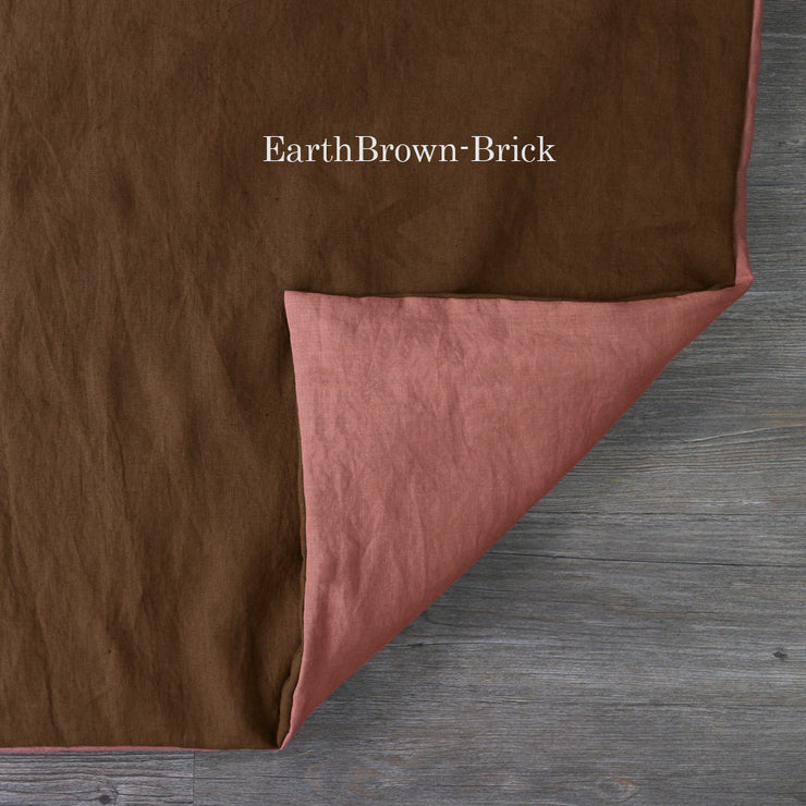 Two Tones Duvet Cover Earth-Brick
