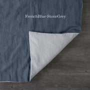 Two Tones Duvet Cover FrenchBlue-StoneGray