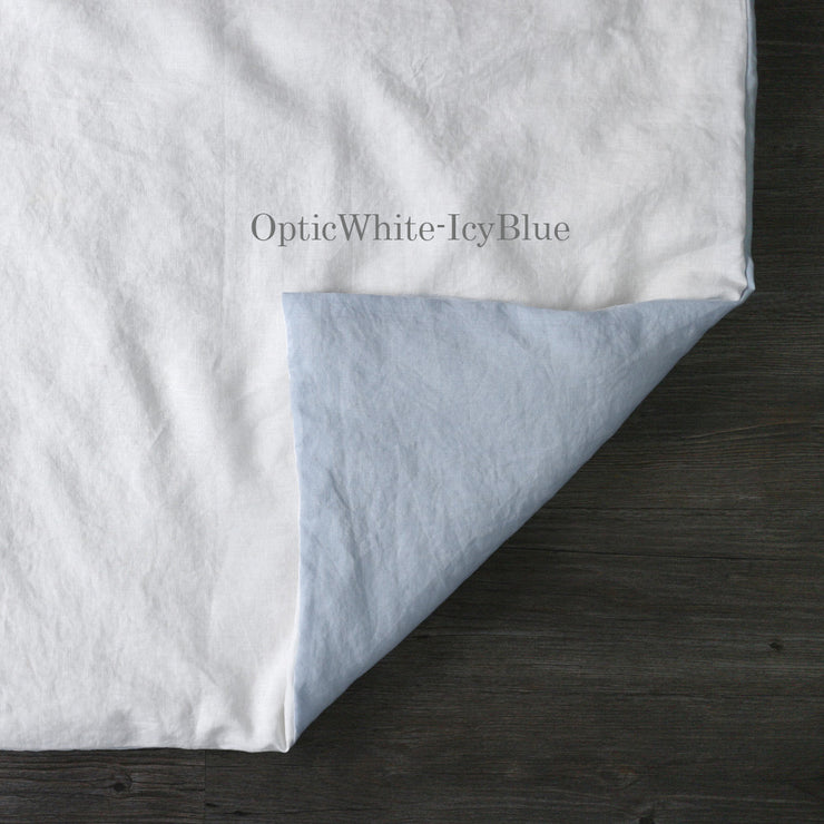 Two Tones Duvet Cover Optic White-Icy Blue