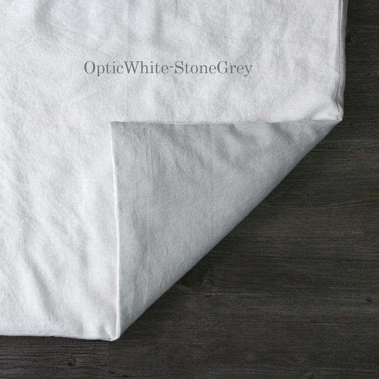 Two Tones Duvet Cover Optic White-Stone Gray