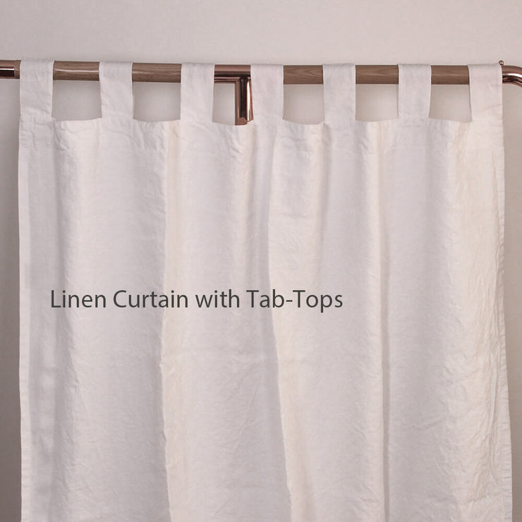Ruffles Linen Window Curtain with Hand Frayed Edge (rect. custom size)