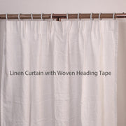 Ruffles Linen Window Curtain with Hand Frayed Edge