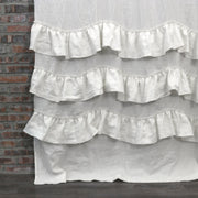 Waterfall Washed Linen Window Curtains Ivory Close up