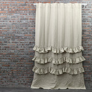 Waterfall Washed Linen Window Curtains Natural