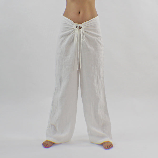 Soft Linen Lounge Pants with Drawstring