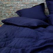 Indigo Blue Pillowcases Pair in Soft Washed Linen