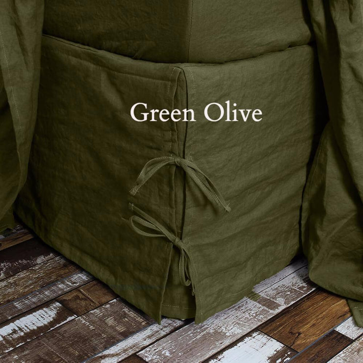 Green Olive Knotted Bedskirt