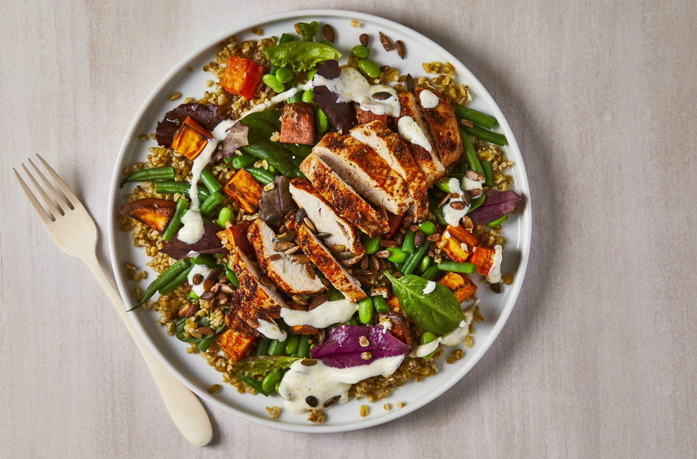 Spicy Freekeh Chicken Salad