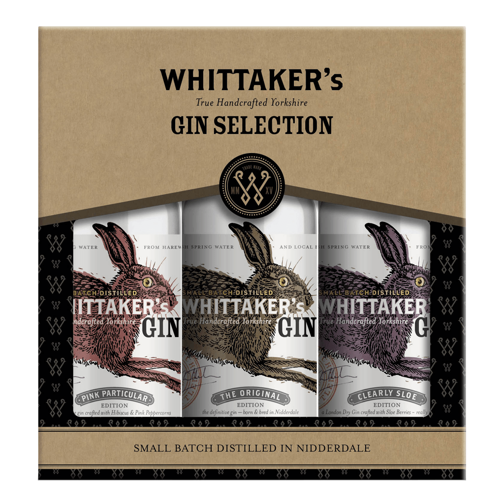Whittaker's Gin 3 x 20cl Gift Pack