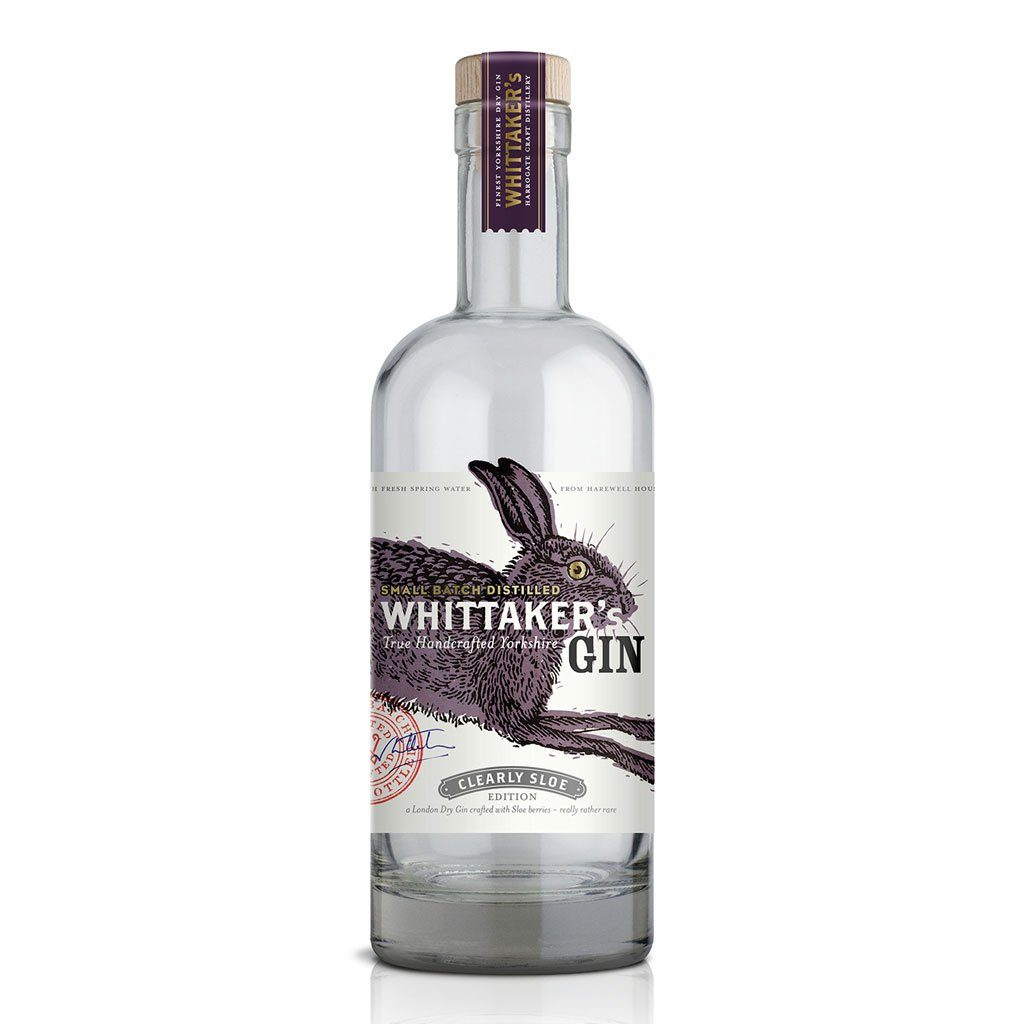 Whittaker's Gin Clearly Sloe bottle