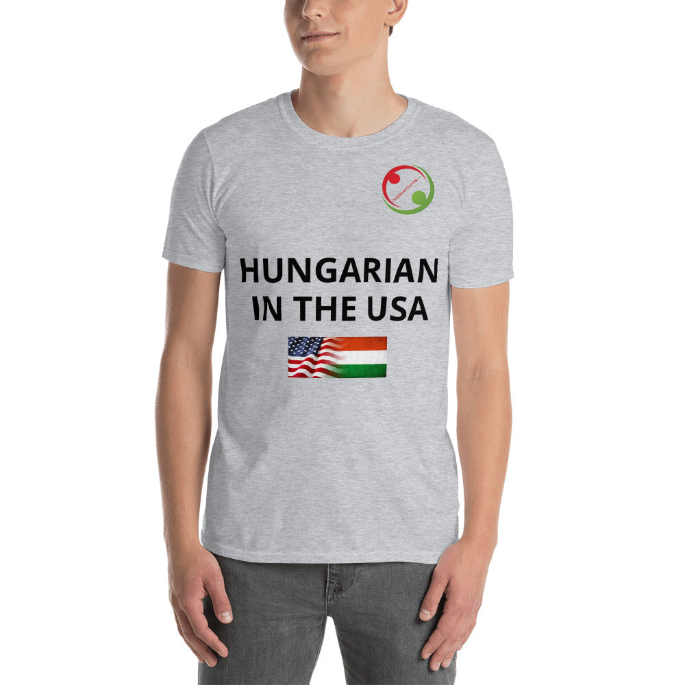 Hungarian in the USA unisex póló