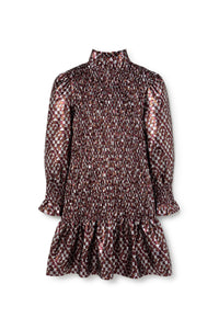 Cosmos Dress - Bordeaux Chevrons