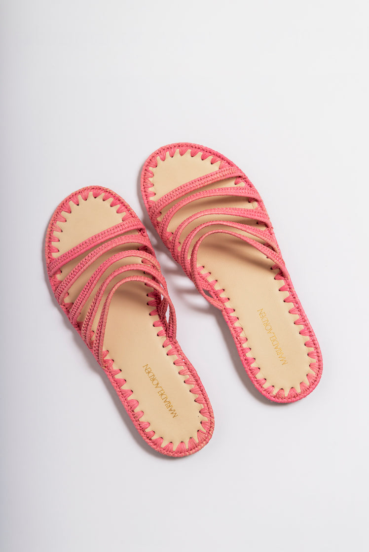 Made in France Rika 3-Rose Details about  /Bopy Girls Closed Toe Leather Sandals