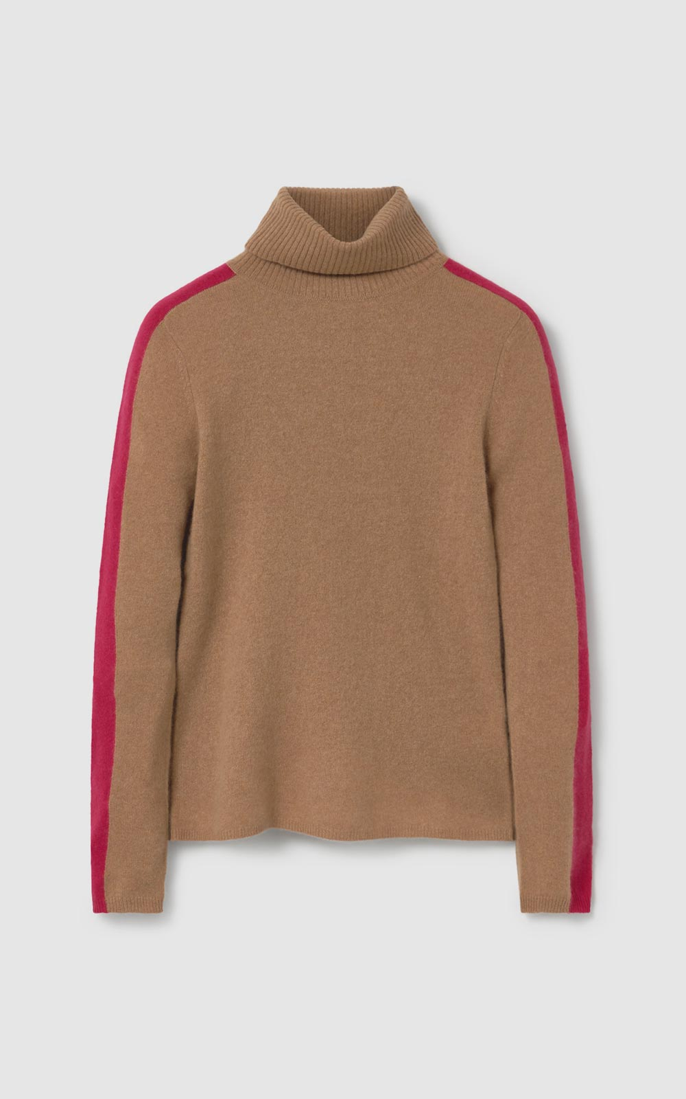Tree Turtleneck Sweater Camel