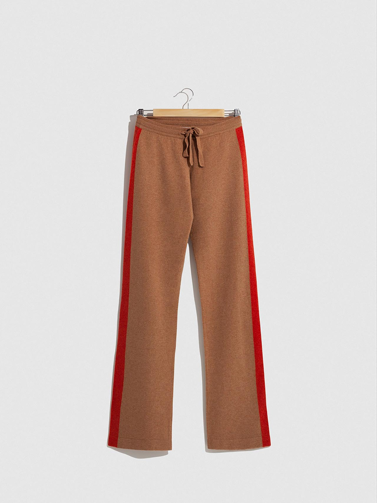 Leo Cashmere Pants Caramel & Red