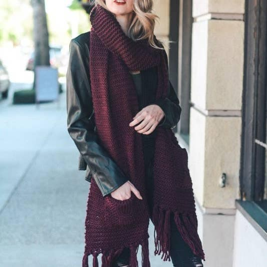 Oversized Scarf with pockets