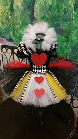 Queen of heart tutu dress