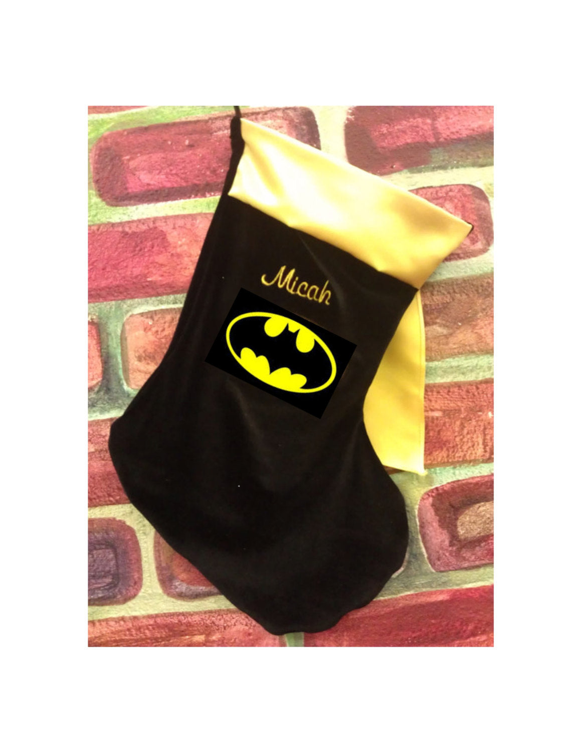 Personalized Batman inspired Christmas Stocking Ships in 5 days