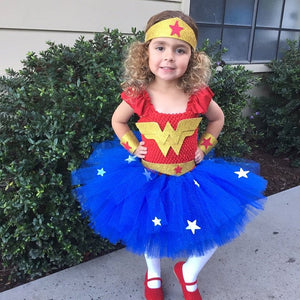 Wonder Woman tutu dress, wonder woman tutu no cape