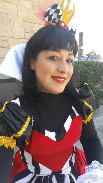 Queen of hearts deluxe cosplay costume