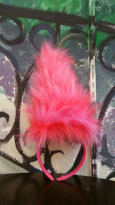 Troll hair, troll headband, Poppy Hair. New colors, In stock pink a coral
