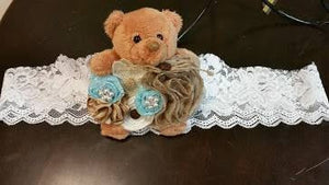 Bear baby shower shower corsage, belly baby shower sash, baby shower belly belt