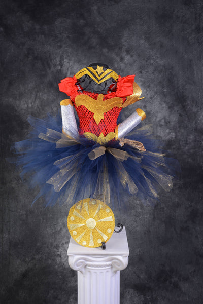 Gal Gadot Wonder Woman tutu dress, lasso of truth, new wonder woman, navy blue Wonder Woman, Wonder Woman tutu, Wonder Woman dress