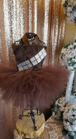 chewbaca tutu dress , Star Wars birthday. chewbaca costume, starwars tutu