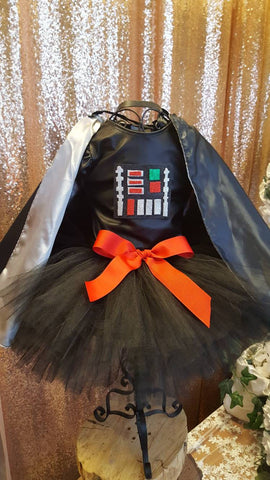 Darth Vader  tutu dress , Star Wars birthday, dark side costume