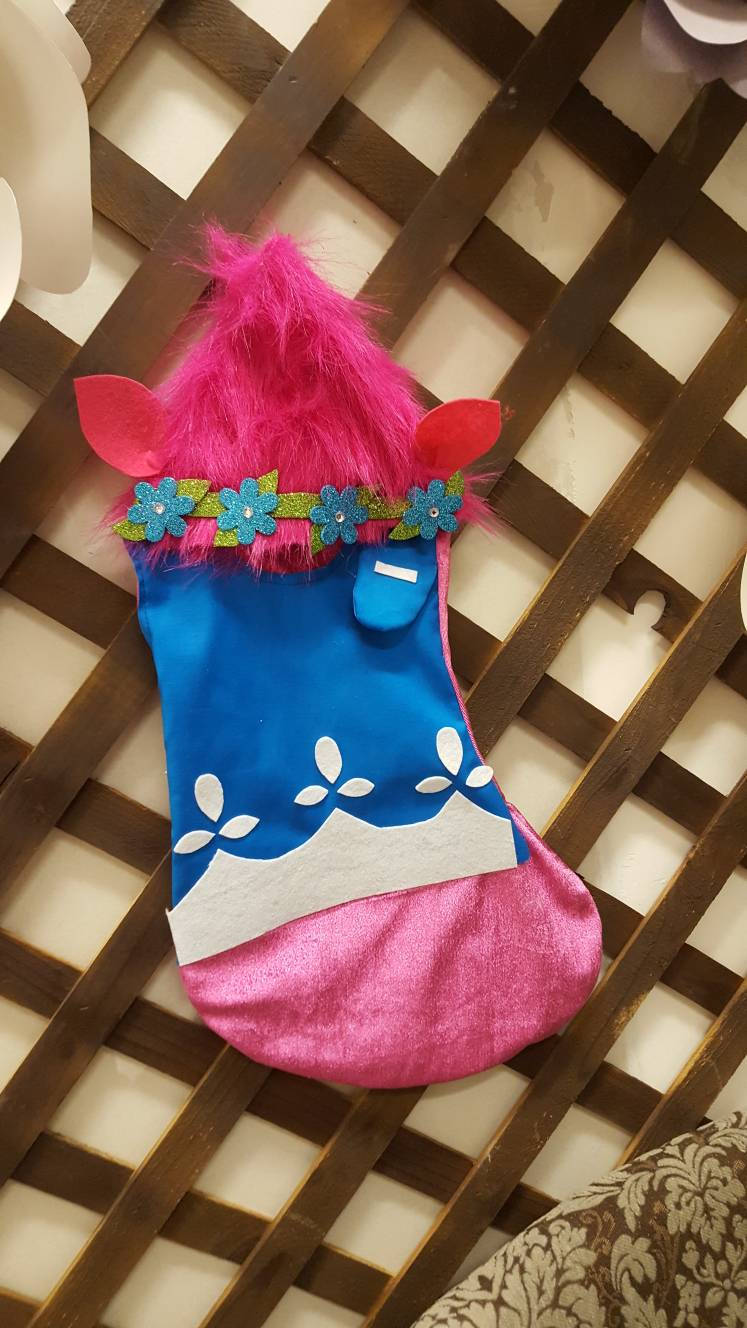 Trolls Christmas Stocking, poppy christmas stocking
