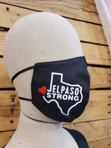 El Paso Strong Texas outline face mask