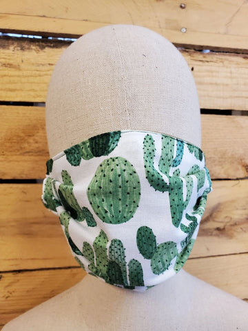 Adult cactus face mask with slot for filter