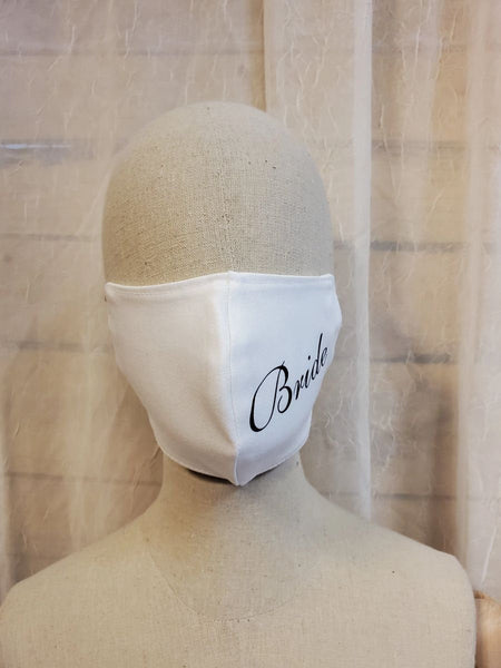 Bride face mask double 100% cotton