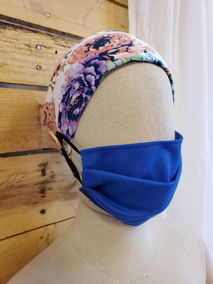 Floral Nurse ear saver headband