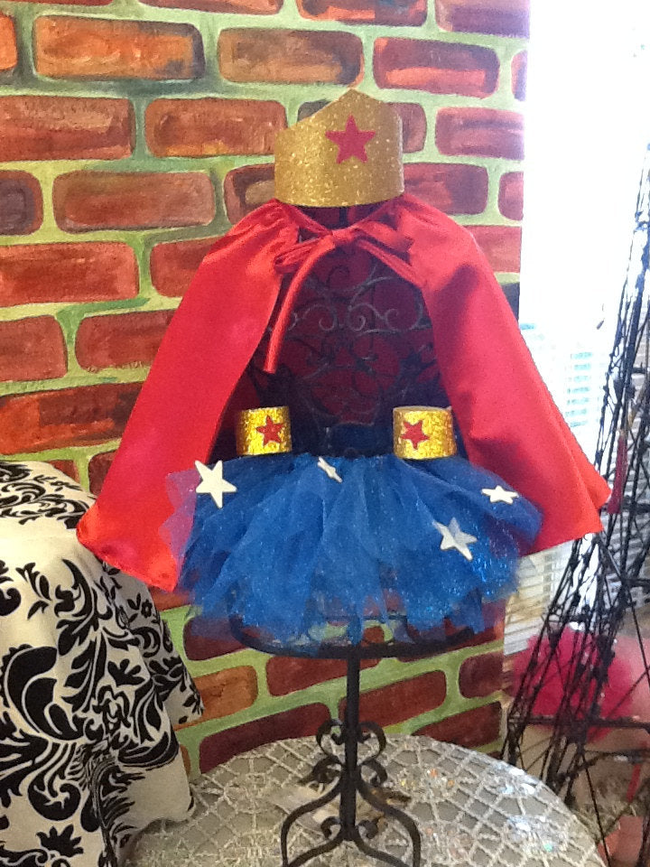 Wonder Woman tutu  childrens costume, wonder woman birthday