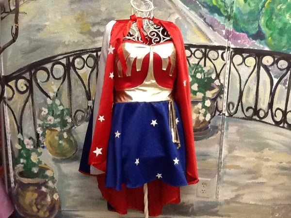 Wonder Woman Full Costume with halter straps and bra cups sewed