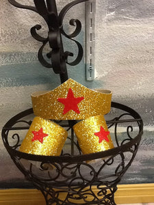 Wonder Woman tiara and cuffs