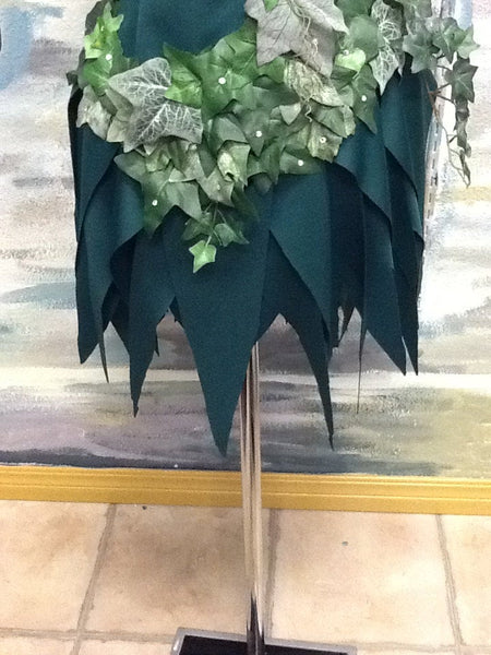 Poison Ivy Kim Kardashian Costume with spiked skirt, poison ivy ice skating costume, poison ivy dance costume