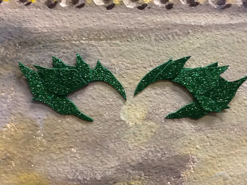 In stock Poison ivy eye mask and hair clip, poison ivy eye brow mask