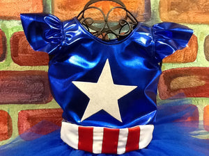 Captain America inspired blouse. In Stock
