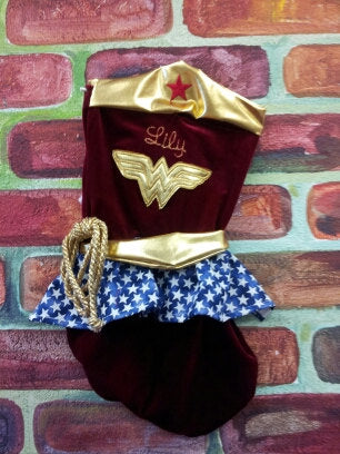 Wonder Woman Christmas Stocking