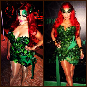 Poison Ivy Kim Kardashian Costume short mini dress  poison ivy costume, villain costume