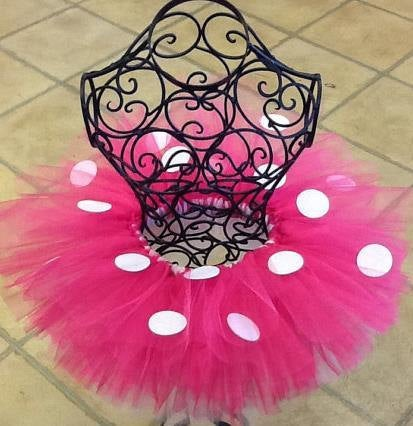 Adult Minnie mouse tutu hot pink and white