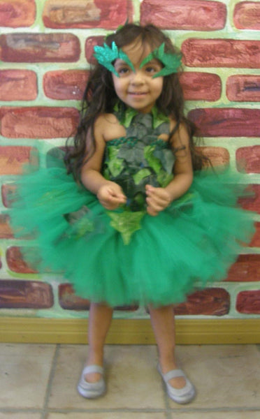 Poison Ivy crochet tutu dress  costume complete