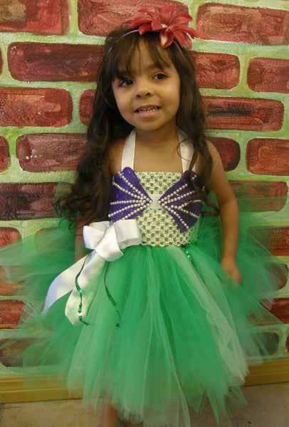 Little mermaid Ariel crochet tutu dress costume