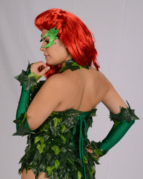 Uma Thurman inspired  Poison Ivy  leotard, poison ivy corset, comic con outfit, poison ivy cos play