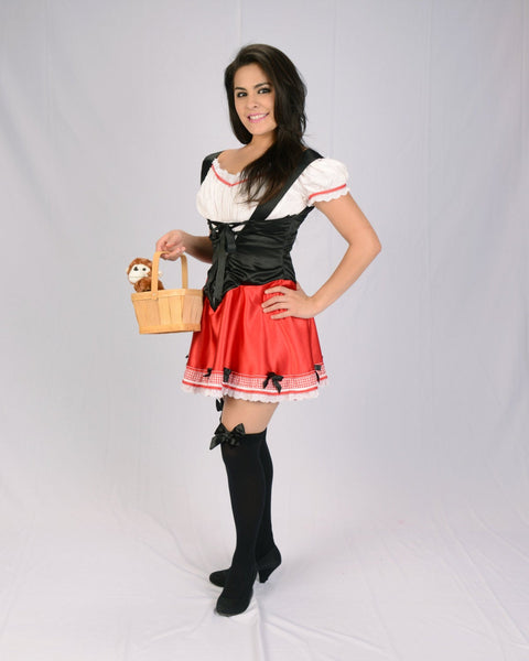 Kim Kardashian little red riding hood costume with velvet cape