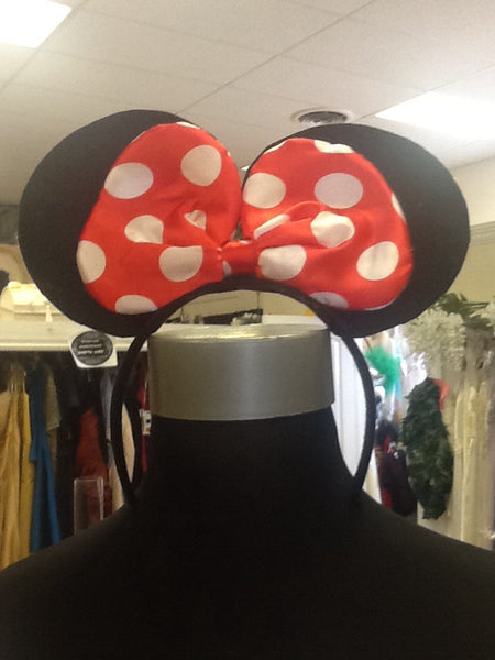 Minnie Mouse ears with light up polk a dot bow