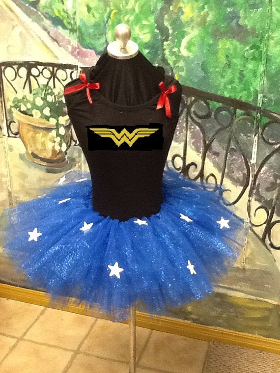 Wonder Woman inspired adult tutu costume